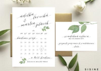 Oznámenie s kalendárom