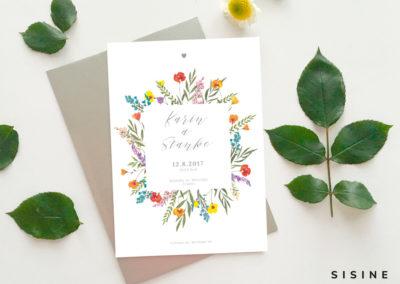 Oznámenie z lúčnych kvetov