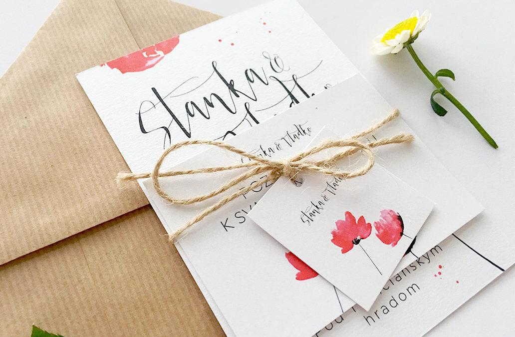 Svadobná grafika – popis jednotlivých tlačovín