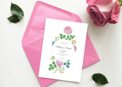 Oznámenie - set ruže